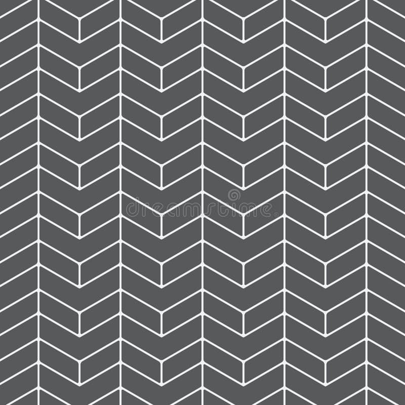 Fundo abstrato de desenhos em espinha as cores pretas surgem o teste padrão com linhas da diagonal da viga Ornamento geométrico c ilustração do vetor