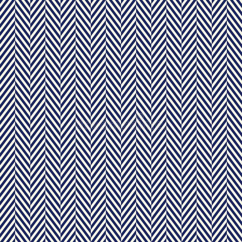 Fundo abstrato de desenhos em espinha A marinha colore o teste padrão sem emenda com linhas da diagonal da viga Ornamento geométr ilustração royalty free