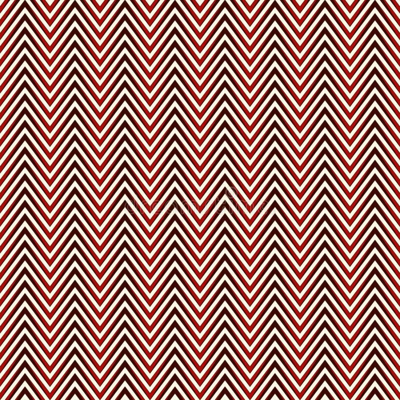 Fundo abstrato de desenhos em espinha O teste padrão sem emenda das cores vermelhas com diagonal da viga alinha ilustração royalty free