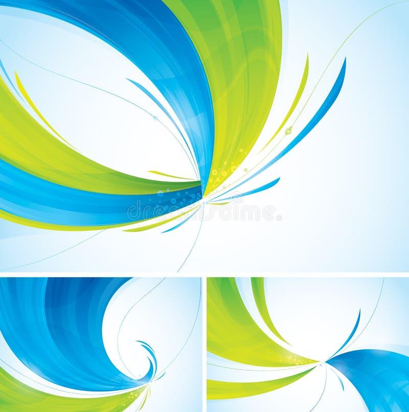 Fundo abstrato de Duotone ilustração stock
