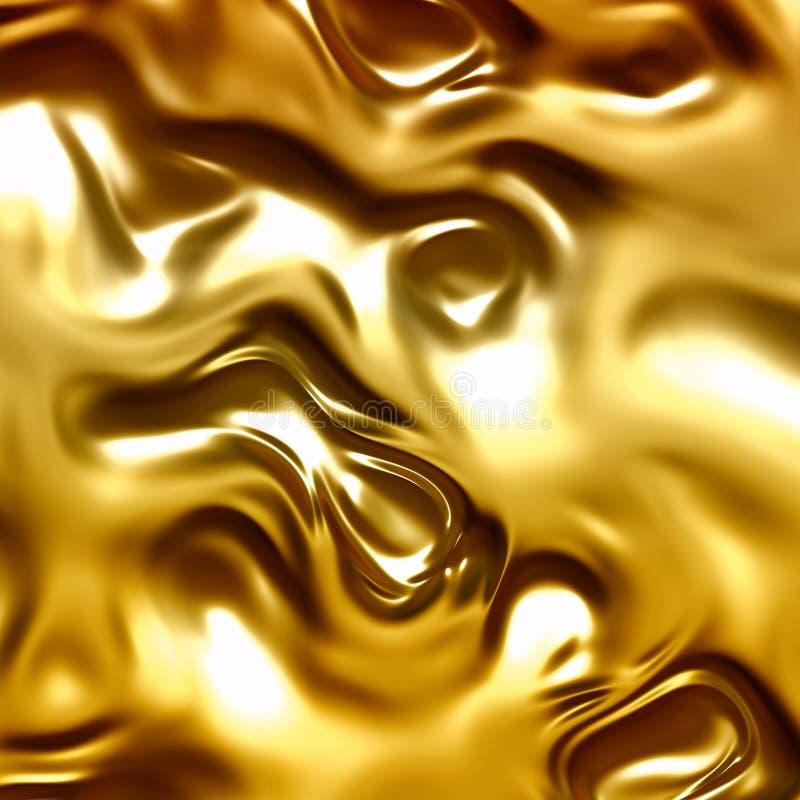 Fundo abstrato de fluxo do ouro ilustração do vetor