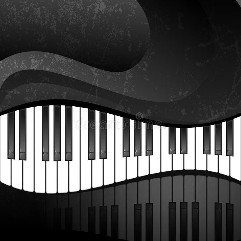 Fundo abstrato de Grunge com chaves do piano ilustração stock