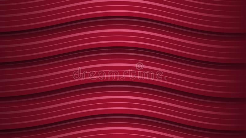 Fundo abstrato de listras onduladas ilustração do vetor