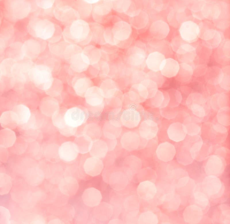 Fundo abstrato de luzes cor-de-rosa ou vermelhas imagens de stock