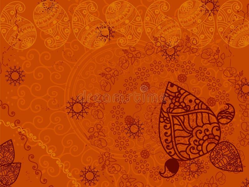 Fundo abstrato de paisley do henna ilustração stock