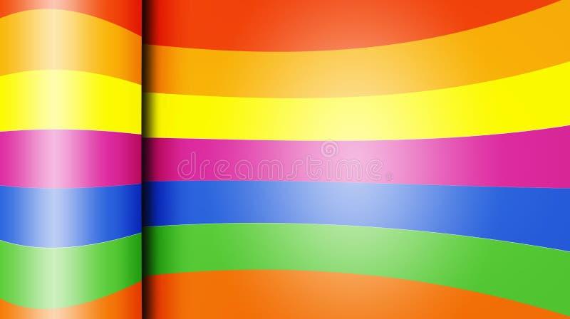 Fundo abstrato de papel colorido lustroso ilustração royalty free