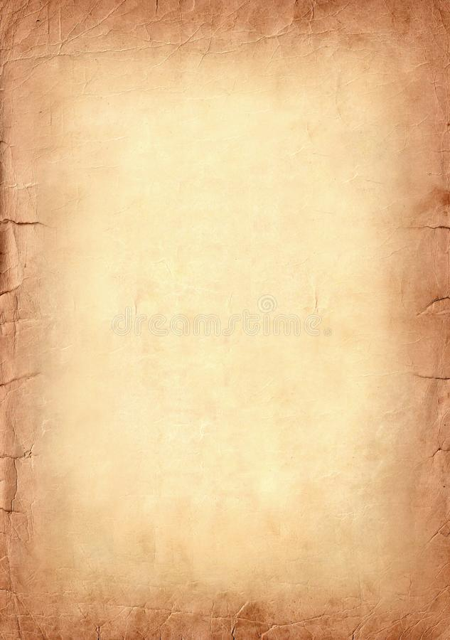 Fundo abstrato de papel velho do grunge do sepia de Brown imagem de stock royalty free