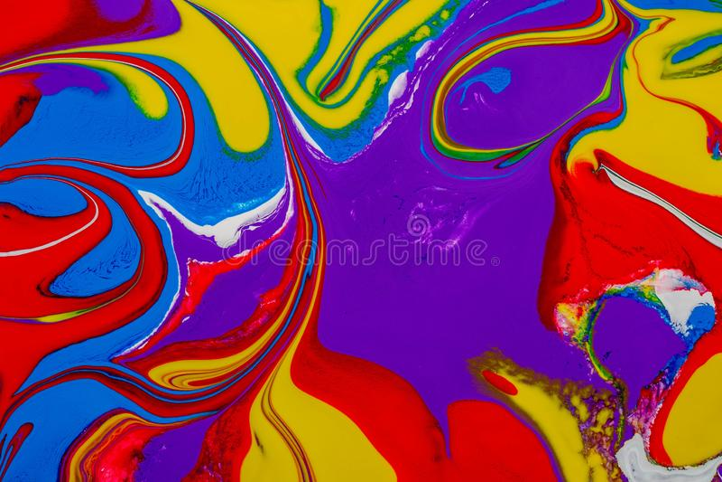 Fundo abstrato de pinturas de uma cor da mistura foto de stock