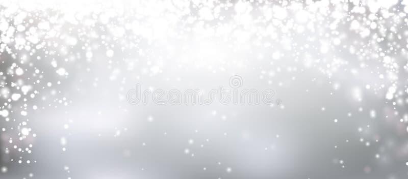 Fundo abstrato de prata do Natal ilustração stock