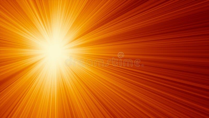 Fundo abstrato de Sun ilustração do vetor