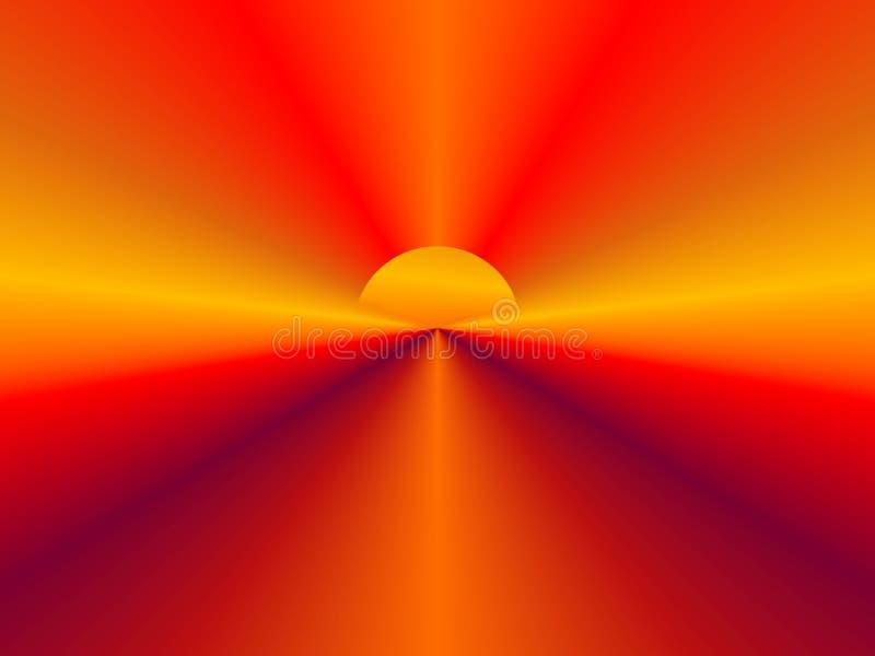 Fundo abstrato de Sun ilustração royalty free