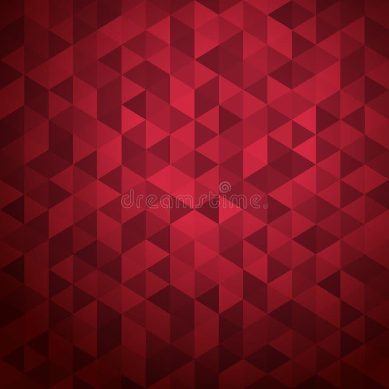 Fundo abstrato de triângulos da cor ilustração do vetor