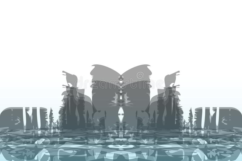 Fundo abstrato de uma cidade grande Estilo do Grunge ilustração stock