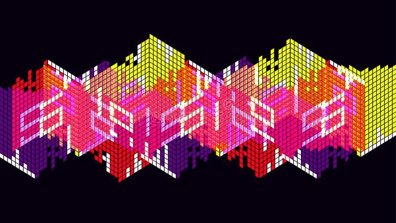 Fundo abstrato digital da tecnologia colorida ilustração do vetor