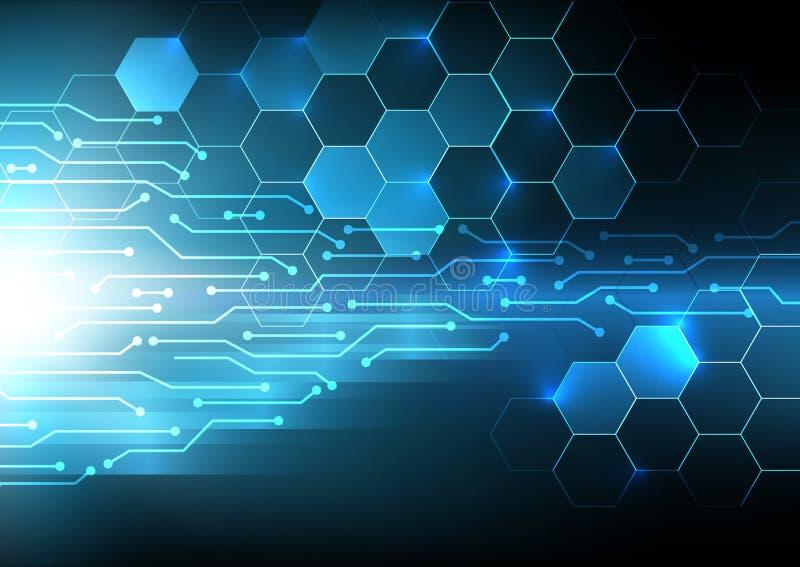 Fundo abstrato digital do circuito bonde, beyon futurista foto de stock