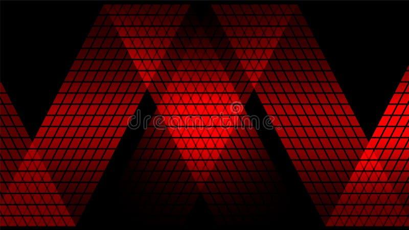 Fundo abstrato digital vermelho da tecnologia ilustração stock