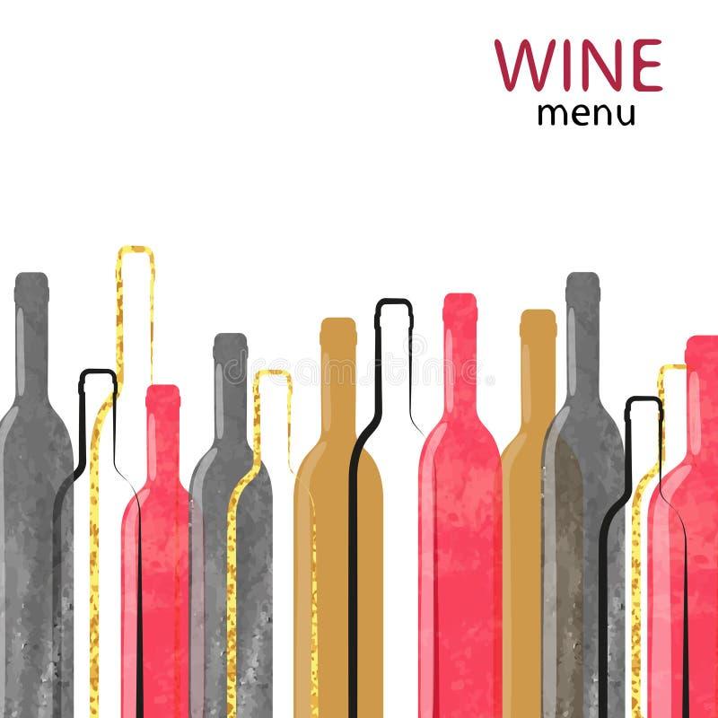 Fundo abstrato do álcool do vinho da aquarela ilustração do vetor