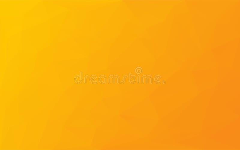 Fundo abstrato do amarelo do vetor do mosaico do polígono ilustração stock