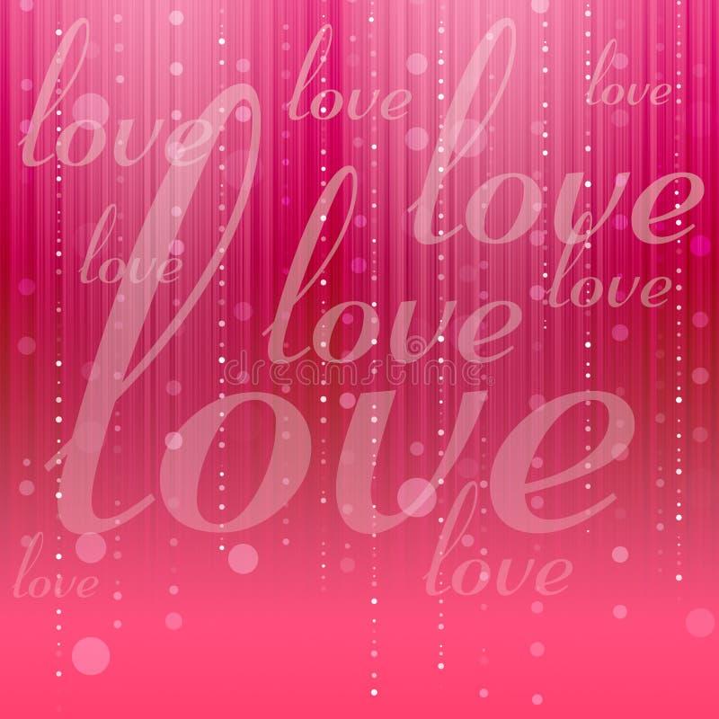 Fundo abstrato do amor ilustração royalty free