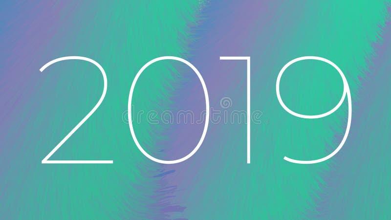 Fundo abstrato do ano novo 2019 fotografia de stock