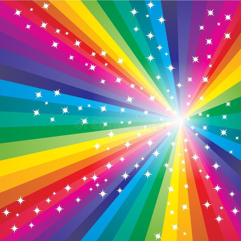 Fundo abstrato do arco-íris ilustração stock