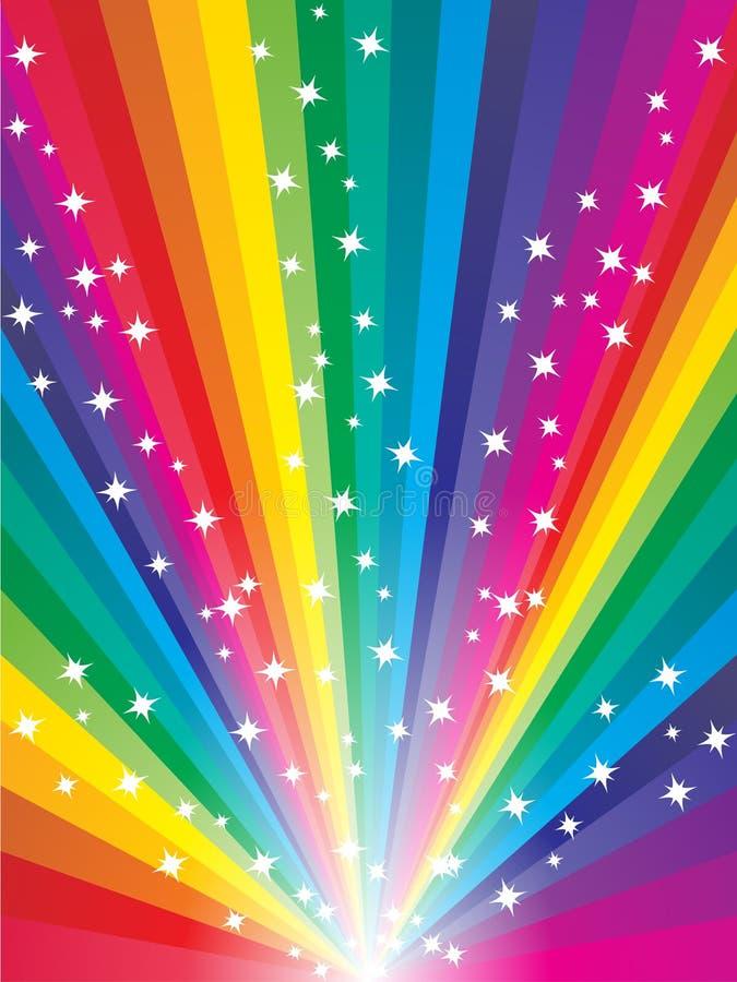 Fundo abstrato do arco-íris ilustração do vetor