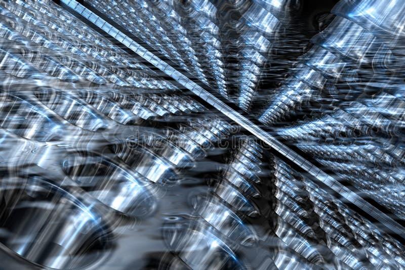 Fundo abstrato do azul 3D ilustração do vetor