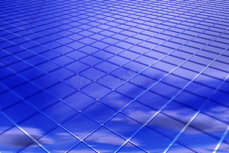 Fundo abstrato do azul 3D ilustração royalty free