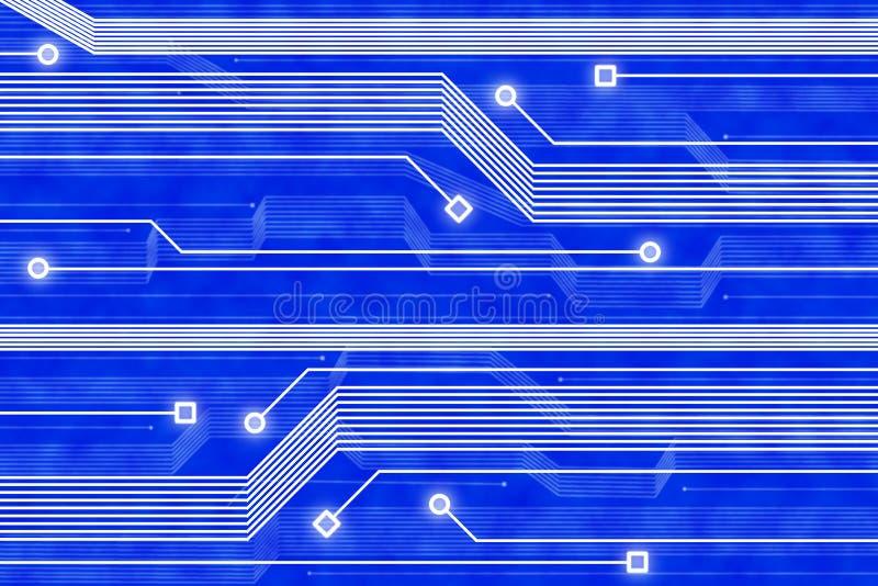 Fundo abstrato do azul da tecnologia