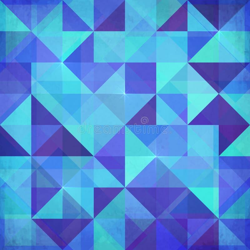 Fundo abstrato do azul do vetor dos triângulos ilustração do vetor