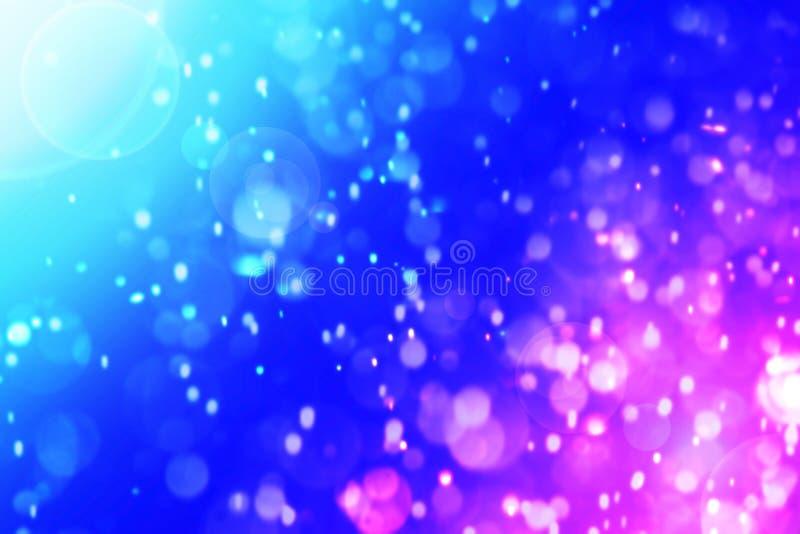 Fundo abstrato do bokeh azul vívido de Dive Aqua foto de stock