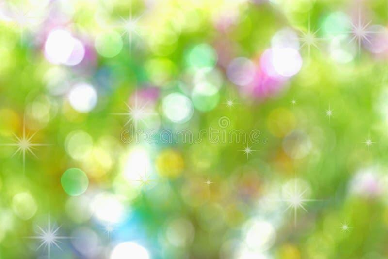 Fundo abstrato do bokeh da cor da luz de Natal fotografia de stock