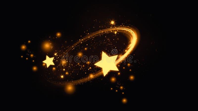 Fundo abstrato do bokeh das estrelas do ouro ilustração do vetor