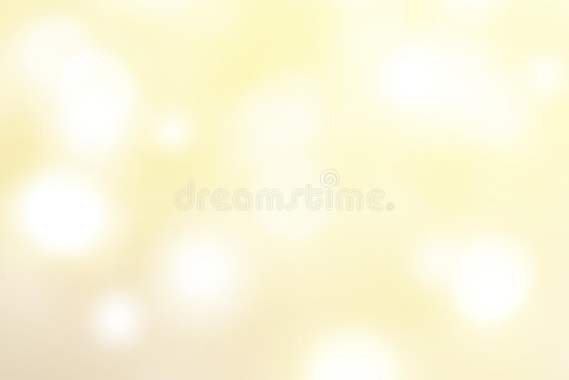 Fundo abstrato do bokeh do ouro com luzes defocused, obscuras imagens de stock royalty free
