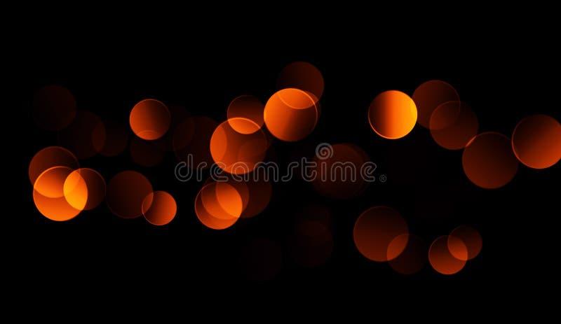 Fundo abstrato do bokeh do ouro partículas de poeira reais com as estrelas de alargamento da lente luzes do brilho Luzes do sumár ilustração stock