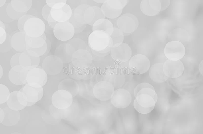 Fundo abstrato do borrão: Bokeh cinzento bonito imagem de stock royalty free