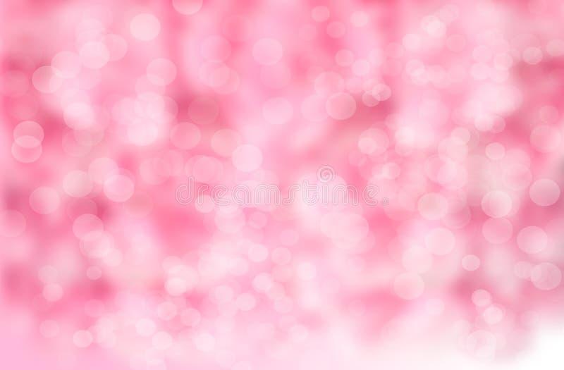 Fundo abstrato do borrão: Bokeh cor-de-rosa bonito foto de stock royalty free