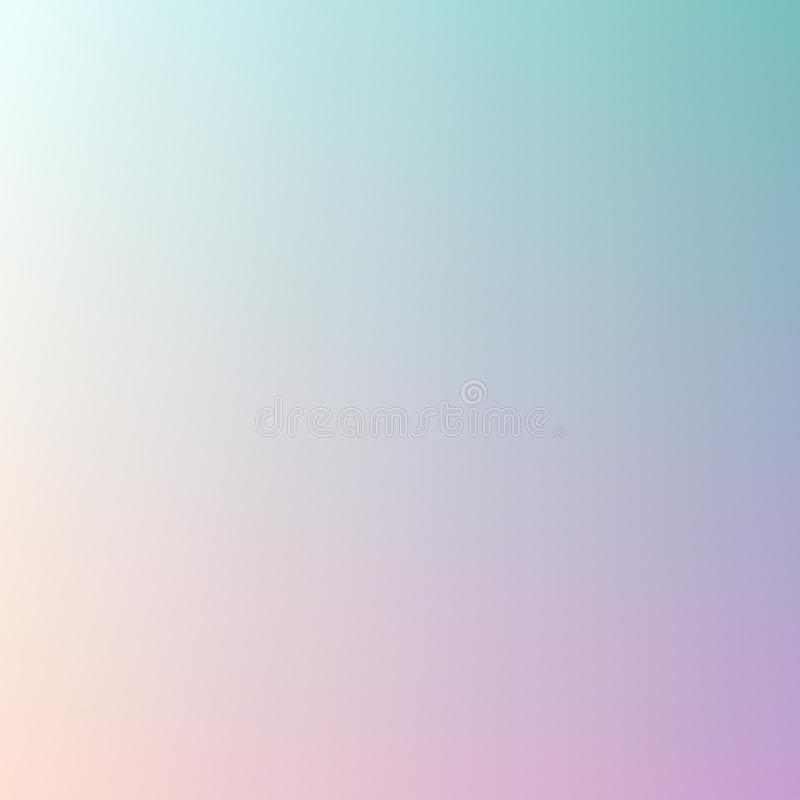 Fundo abstrato do borrão da cor pastel do inclinação da tendência para conceitos de projeto, Web, apresentações, bandeiras e cópi ilustração do vetor