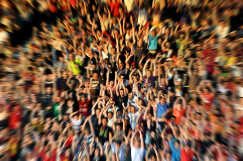 Fundo abstrato do borrão da multidão de povos foto de stock