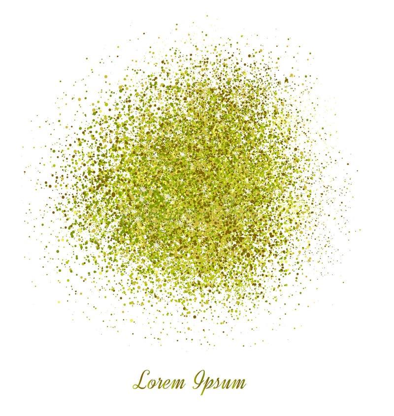 Fundo abstrato do brilho do ouro Sparkles brilhantes para o cartão imagem de stock