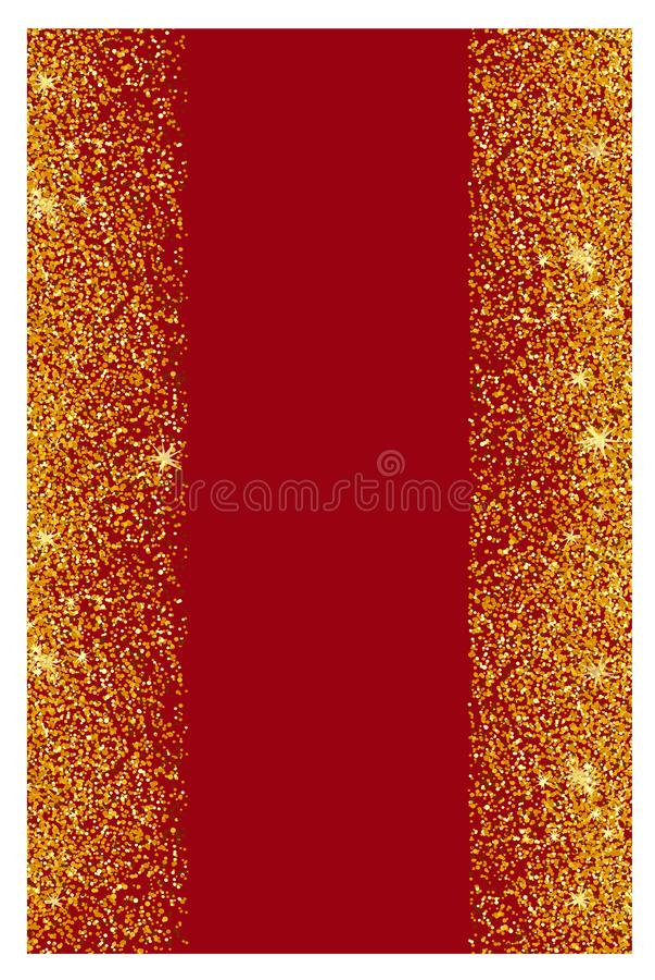 Fundo abstrato do brilho do ouro Sparkles brilhantes para o cartão foto de stock royalty free