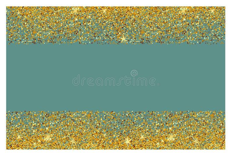 Fundo abstrato do brilho do ouro Sparkles brilhantes para o cartão imagens de stock royalty free