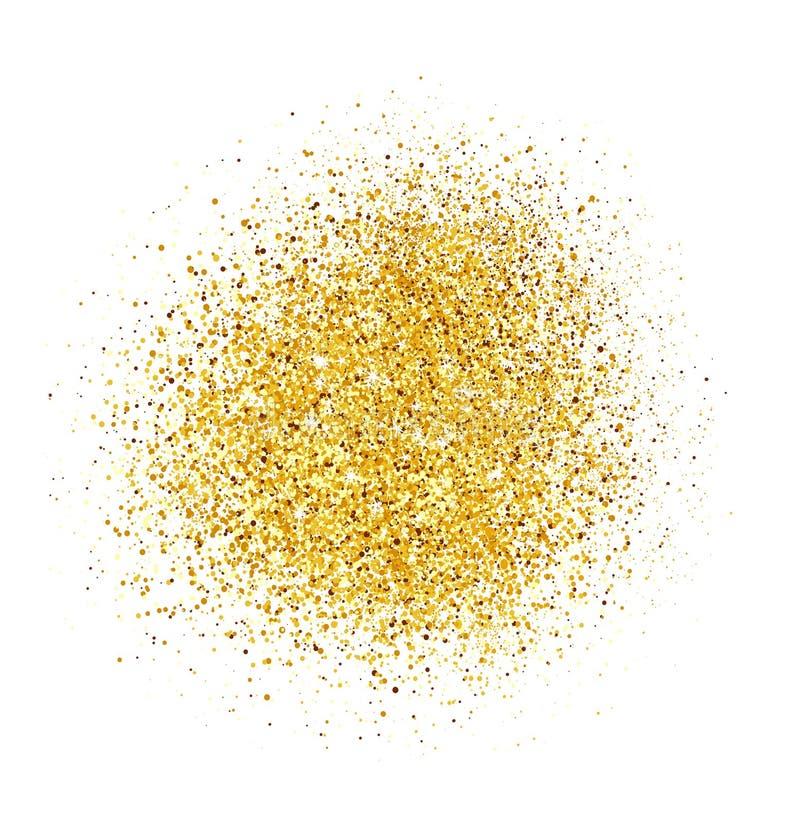 Fundo abstrato do brilho do ouro Sparkles brilhantes para o cartão fotografia de stock royalty free