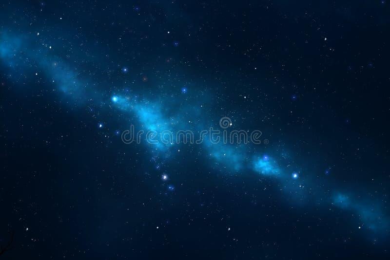 Fundo estrelado da Via Láctea do céu nocturno fotos de stock