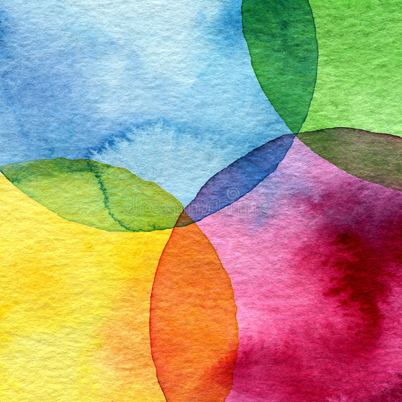 Fundo abstrato do círculo da aquarela ilustração do vetor