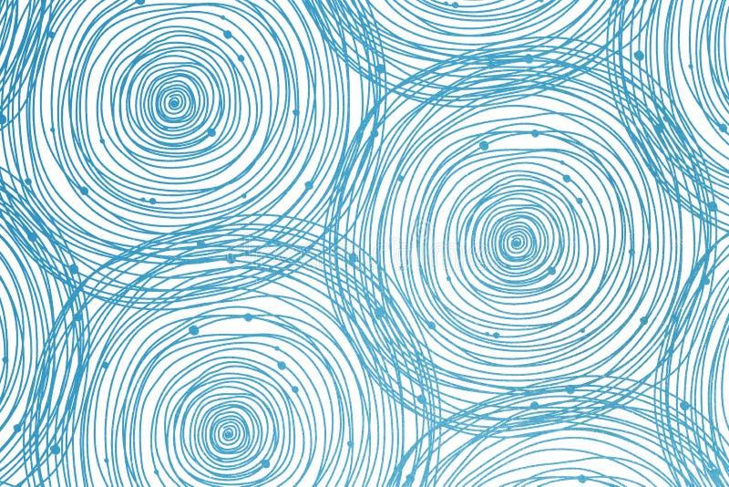 Fundo abstrato do círculo da espiral do giro ilustração do vetor