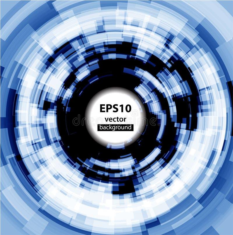 Fundo abstrato do círculo de Techno. Eps 10. ilustração stock