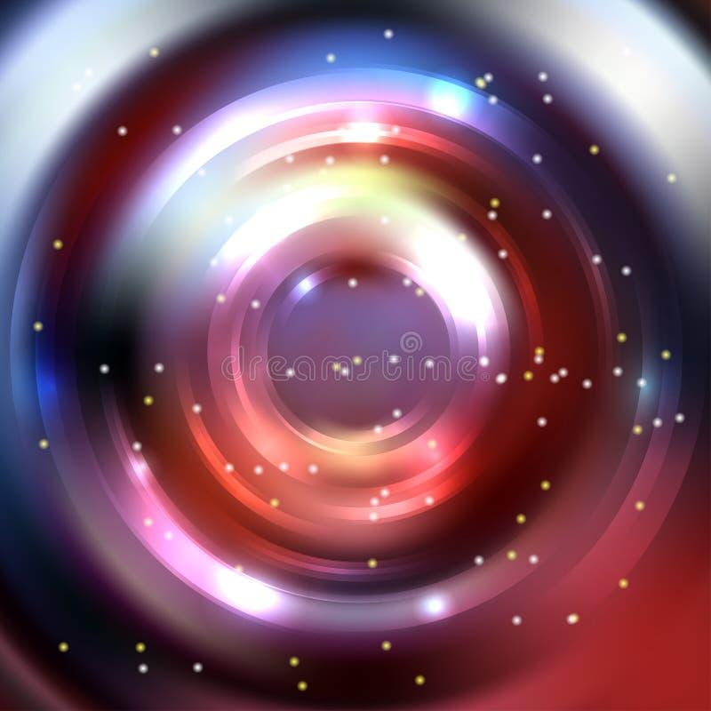 Fundo abstrato do círculo, projeto do vetor Círculo infinito do vetor ilustração do vetor
