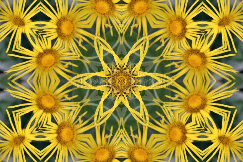 Fundo abstrato do caleidoscópio Textura multicolorido bonita do caleidoscópio Projeto original e inimitável Simétrico geométrico fotografia de stock