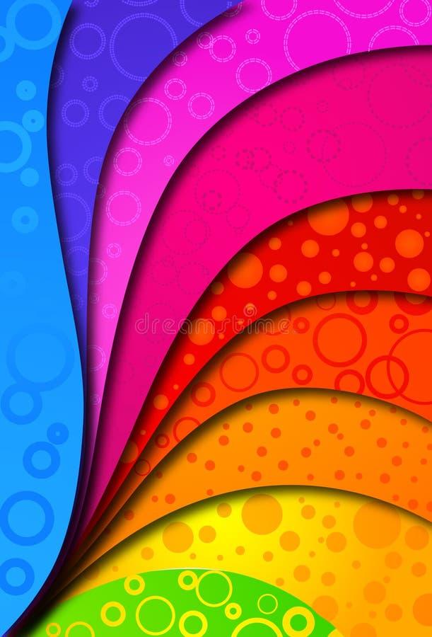 Fundo abstrato do colorfull para o projeto. Vetor ilustração do vetor